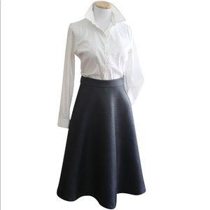 Banana Republic Faux Leather High Waist Midi Skirt